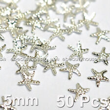 50 Pcs 3D Nail Art Decoration Sea Star Alloy Jewelry Glitter Rhinestone EG-166A