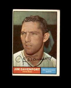 Jim Davenport Hand Signed 1961 Topps San Francisco Giants Autograph