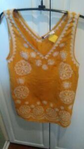 THML Clothing NWT Size M Sleeveless Decorative Top