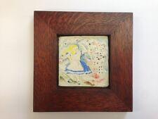 B.A. Schmidt Alice and Cards Art Tile Family Woodworks Arts & Crafts Frame