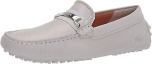 Mens Lacoste Ansted 0320 1 CMA Driving Loafers - Grey Leather [7-40CMA0046GS2]