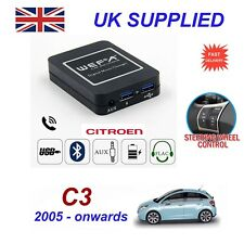 For Citroen C3 Music Stream Bluetooth Telephone Charger SD AUX CD Module RD4