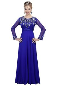ROYAL SWEDISH WEDDING DRESS HAND EMBROIDERED IRANIAN BOHO LADIES PARTY GOWN 6101