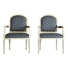 Chair / French Accent Chair / Bergere Chair / Nicole Chair by Ethan Allen ~ Pair