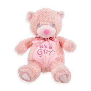 It's a Girl Pink Baby Bear Announcement Gender Reveal NWT Babykins 10 inch Plush