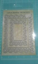 Gina Marie designs metal cutting dies - Lotus Blossom Lace Rectangle die set