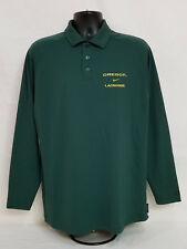 Oregon Ducks Lacrosse Nike Team Issued Long Sleeve Collar Shirt Men's M
