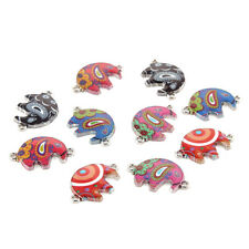 10pcs Mixed Anteaters Oil Drip Connectors Charms Diy Jewelry Making 16*29mm