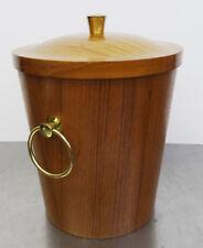 mid century design - Origineller cooler Eiswürfel Kühler Teak Holz Eiskühler