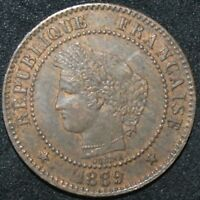 1889 A | France 2 Centimes | Bronze | Coins | KM Coins