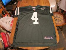 NEW YORK JETS FOOTBALL JERSEY - #4 - BRETT FAVRE - SIZE XL- REEBOK