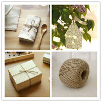30M Natural Jute Hot Brown Jute Twine String DIY Shabby Style Rustic Shank Craft