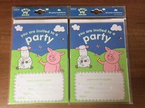 Marks And Spencer 2 X Party Invites With Envelopes Packs Percy Pig 40 Invites