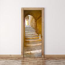 UK 88cm x 200cm Porta Murale Scalinata in Pietra Casa Decorazione Autoadesivo Adesivi