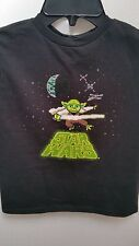Star Wars Yoda Licensed Kid's Youth T-Shirt - Black - Size 4 - Disney NWT
