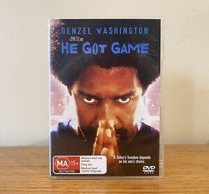 He Got Game DVD (1998) PAL Region 4 RARE Denzel Washington Film
