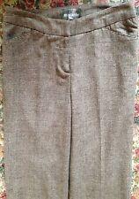 Mac & Jac Womens Brown Tweed Wool Blend Fully Lined Pants Length 31 Size 6