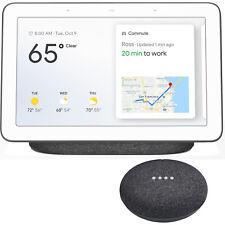 Google Nest Hub with Google Assistant & Google Home Mini Smart Speaker-Charcoal