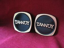 Tannoy brass logo badges pair