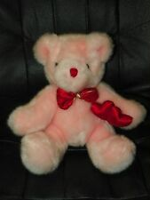 "Pink Valentines Beanfilled Teddy BEAR 10"" Love Hearts NICE"
