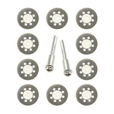 10x Mini Diamond Cutting Discs Wheel Blades Set+Drill Bit Tool For Rotary N4L5