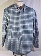 IZOD Mens Long Sleeve Size Meduim 100% Cotton Button Front