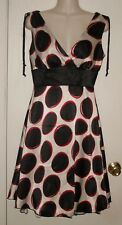 SPEECHLESS ~ W/B&Red Satin & Tulle  Dress Sz 5 * G- VERY GOOD COND.