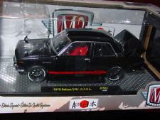 M2 AUTO JAPAN 1970 70 DATSUN 510 IMPORT CAR -Black, 1:24
