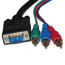 15Ft Premium VGA to 3RCA RGB Component Video Cable