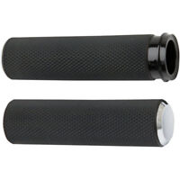 Arlen Ness Chrome Knurled Fusion Grips for 2008-2018 Harley Throttle-By-Wire