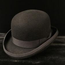 100% Wool Men s Black Brown Bowler Hat Gentleman Crushable Fedora Hat S M L  XL 92f07ce9827