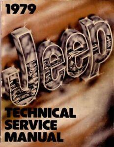 1979 Jeep CJ Wrangler Scrambler Shop Service Repair Manual Engine Drivetrain OEM