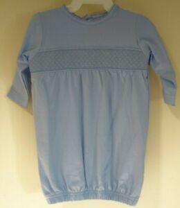 NWT Smockingbird Blue Smocked Daygown Size 3-6 Month