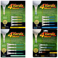 4 Yards More Golf Tees Pack - New Reusable Low Spin Friction Further Distance