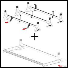 Vantech 3 Bar White ALUMINUM Ladder Roof Rack System w/ROLLER  (LOW ROOF)