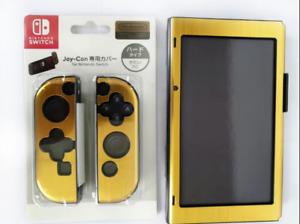 Gold Aluminum Case Cover Protective Skin Shell Nintendo Switch Grip Joy-Con