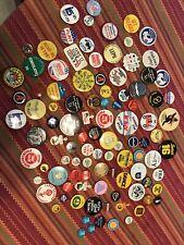 Buttons Assorted, Political, Advertising, Fun Pinbacks