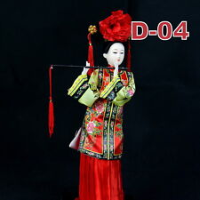 D-04 China Qing-Dynastie Geisha chinesisch Puppe Figur Seide 31cm  groß