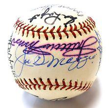 JSA Joe Dimaggio Minnie Minoso Whitey Ford 18 Signed Autograph Baseball Yankees
