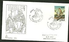 ITALIA BUSTA CAPITOLIUM  1991 NATALE SEGANTINI ANGELO VITA  ANNULLO SPECIALE FDC