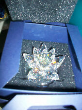 "Swarovski Silver Crystal "" Water Lily Candle Holder� Large Mib"