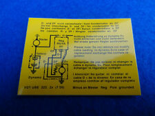 VOLVO CLASSIC RICARICA relay 6 VOLT e diagramma Adesivo