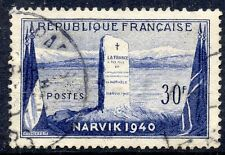 TIMBRE FRANCE OBLITERE N° 922 BATAILLE DE NARVIK /  NORVEGE /