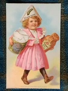 """Postcard -  Advertising, Heinz, Young Girl """"Our Commissary"""" (P200571)"""