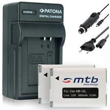 2x Batterie + Chargeur NB-12L pour Canon Legria Mini X / Canon Vixia Mini X