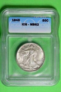 1945 ICG MS62 Walking Liberty Half Dollar #B26663