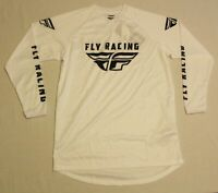 Fly Racing Men's Universal Graphic Print Long Sleeve Jersey SC4 White Small NWT