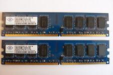 2x 2GB Nanya NT2GT64U8HD0BY-AD 4GB DDR2 800MHz PC2-6400 PC RAM Kit