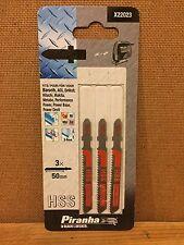 Black Decker Piranha Jigsaw Blades Saw HSS Metal Bosch Dewalt Makit X22023 Swiss