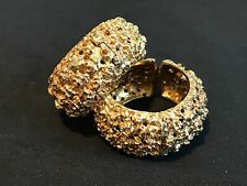 Earrings 18K Yellow Gold Italy Clip on